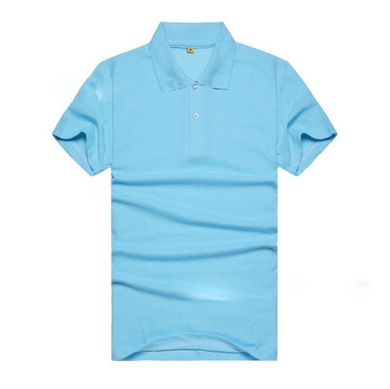 Mycoh cotton polo layer t shirt sea blue lazada malaysia for Aqua blue color t shirt