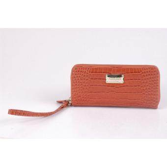 Alfio Raldo Croco Leather Long Purse Orange LA-668