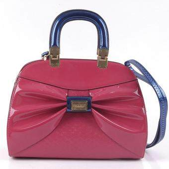 Alfio Raldo Ribbon Top handle Bag Pink