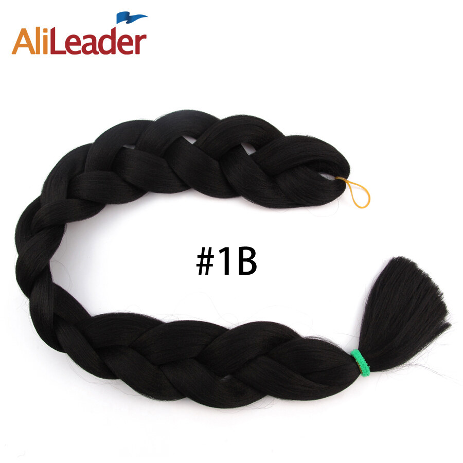 AliLeader 2 Piece Xpression Crochet Braids Synthetic Hair Yaki Braids Afro Braiding Hair 36 Inch Long Kanekalon Hair Extensions - intl