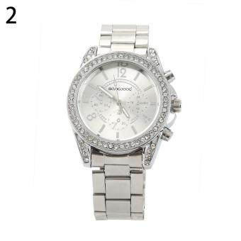 Bluelans(R) Women's Silver Stainless Steel Band Watch