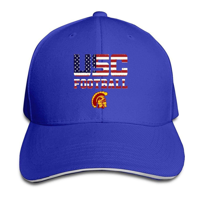 Booottty USC Trojans Kardinal Praktek Amerika Serikat Bendera Logo Fleksibel Bisbol Tutup Hitam-Internasional