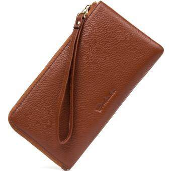 BOSTANTEN Genuine Leather Women Wallets Designer Long Fashion LadyPurse Card Holder Phone Coin Pocket Female Clutch Wristlet