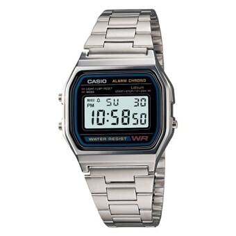 Casio A158WA-1D Watch Stainless Steel Band Silver