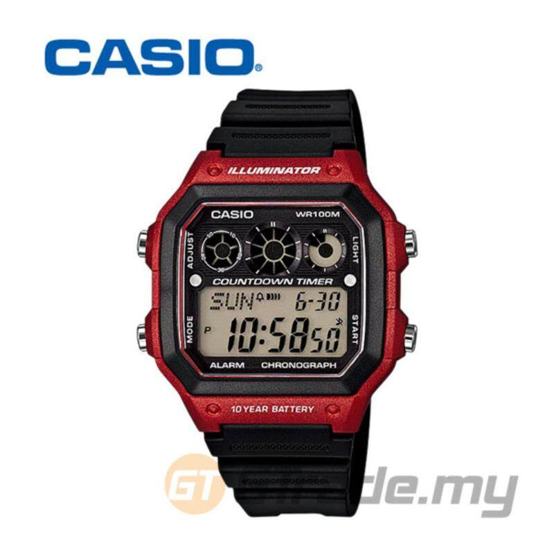 Casio Mens Black Resin Strap Watch AE-1300WH-4AV Malaysia