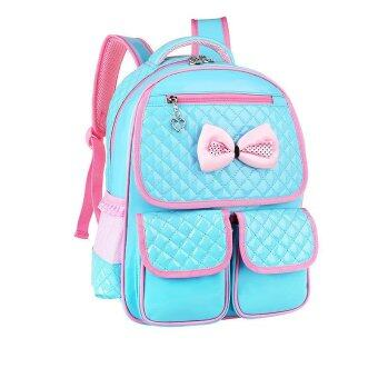 children school backpack bags for primary girls students patent leather bow bag blue lazada. Black Bedroom Furniture Sets. Home Design Ideas