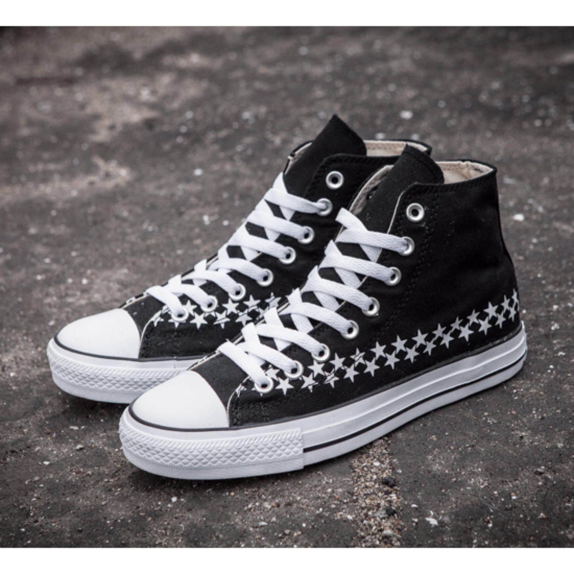 Mengubah Sneaker Uniseks Datar Sepatu Modis Sepatu Kanvas-Hitam-Internasional