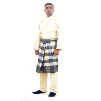 Cotton & Silk - Baju Melayu NFL 12 - Baju Melayu Poly Cotton Alexander - A4 (Cream)