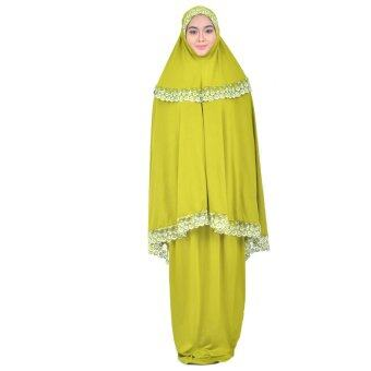 Cotton & Silk - Telekung Lace Zinnirah - H1 (Parrot Green)