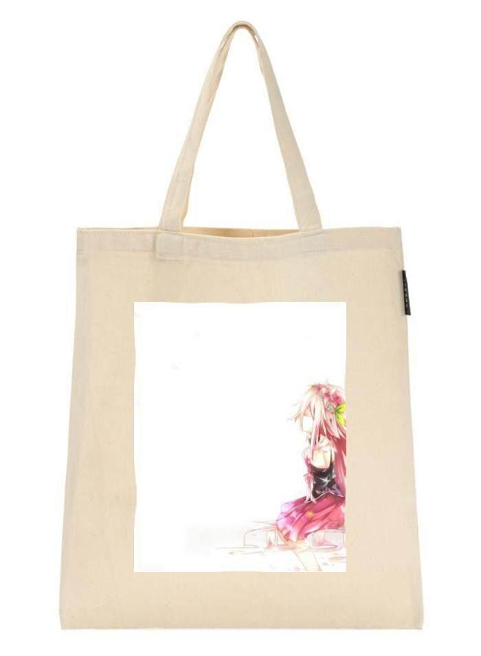 Cotton Canvas Shopping Bag Patrol sound For Shoulder Tote Shopper Bag Creamy White Eco Friendly Gift - intl