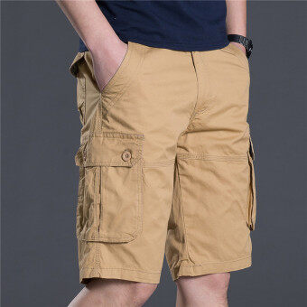 [Every day special] Summer male tooling shorts five pantsmulti-pocket straight outdoor sports beach pants five points pants(Casual color)