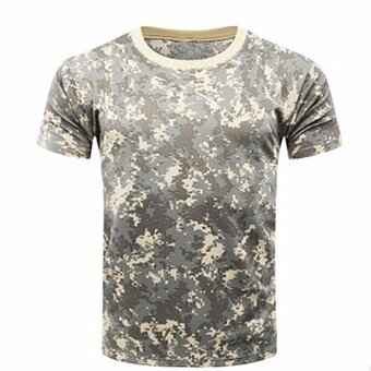 Fancyqube Camouflage T-shirt Men Breathable Army Tactical Combat TShirt Military Dry Camo Camp Tees ACU Green01