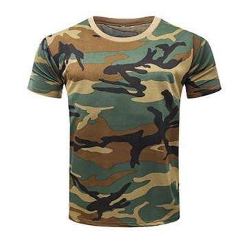 Fancyqube Caouflagae T-shirt Men Breathable Army Tactical Combat TShirt Military Dry Camo Camp Tees ACU Green03