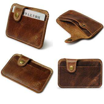 Fashion Money Clip Slim Credit Card ID Holder Wallet Money CashHolder brown