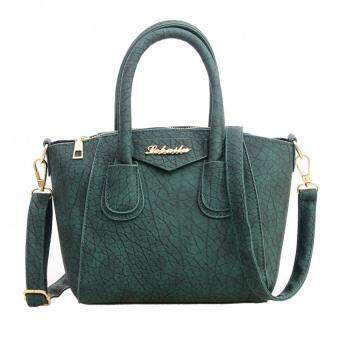 Fashion Women PU Leather Handbag Messenger Bag (Green)