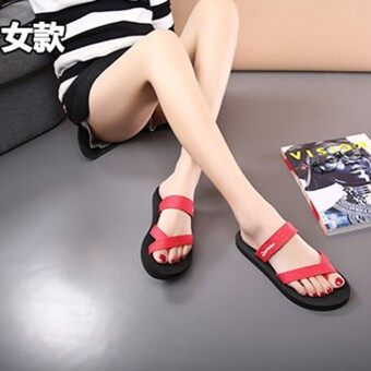 Flip non-slip flat sandals New style slippers (Red)