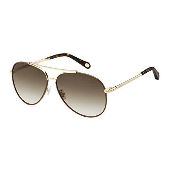 Fossil Fos2000ls Aviator Sunglasses, Light Gold/Brown Gradient, 60 mm