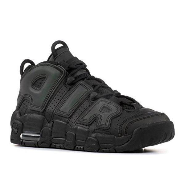 From USA NIKE Kids Air More Uptempo SE GS, Black/Black-Wolf Grey, Youth Size 7 - intl