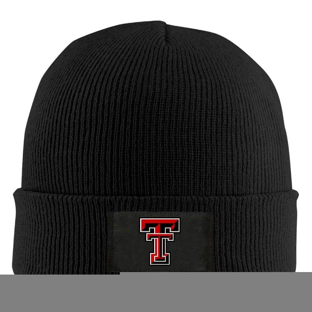 Gdlov Texas Tech Red Raiders 8 Man Women Unisex Winter Warm Acrylic Watch Knit Wool Beanie Cap Hat Size One Size US Black - intl