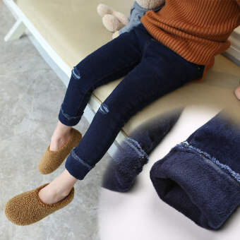 Girls children's New style stretch Slim fit casual pants children's clothing