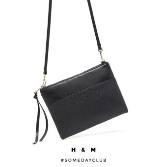 H&M Faux Leather Small Shoulder Bag Crossbody Bag (Black)