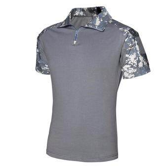 Hequ Fashion Men Casual Camouflage T-shirt Men Army Tactical TShirt Military Mens T Shirts Grey