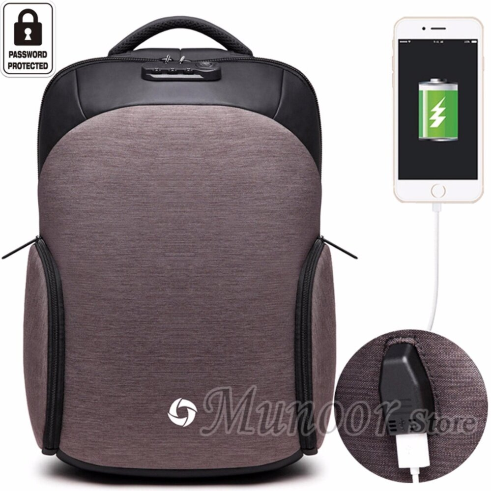 High Quality Men Anti-theft Multifunctional Business USB Charging Port Backpack 15.6 inch Laptop Travel Holder Kualitas tinggi Chất lượng cao คุณภาพสูง
