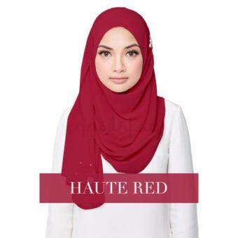 [Hijab & Me ] Naelofar Hijab Darling Love - Haute Red