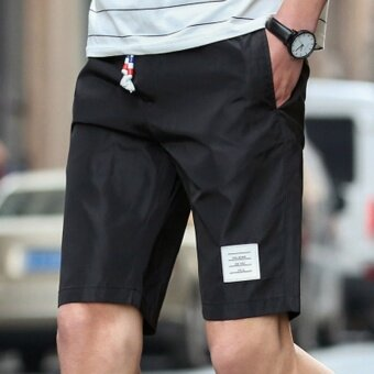 I casual men summer short trunks shorts (Black)