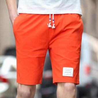 I casual men summer short trunks shorts (Orange)