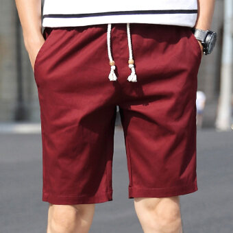 I casual men summer shorts (Red Wine)