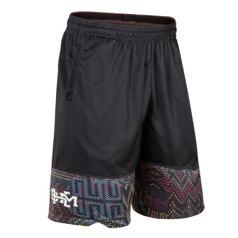 I No. Football running knee basketball shorts (Black month shorts)