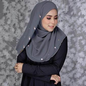 Jelitasara X Lazada Qisha Instant Shawl (Charcoal Grey)