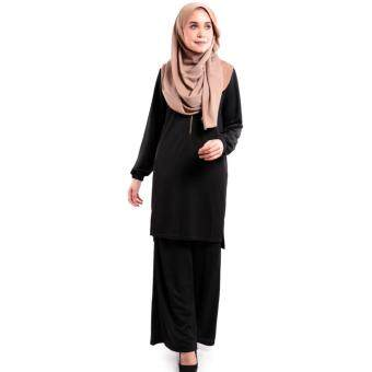 JF Fashioin Julie Long Blouse with Palazzo S386P (Black)