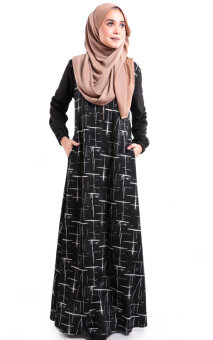JF Fashion Arnee printed Jubah with side pocket S387 (C)