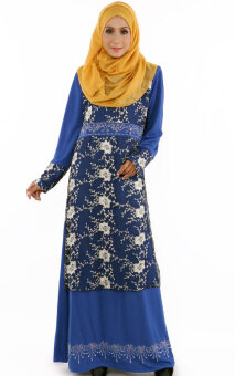 JF Fashion Tyra Kurung Dress E00151 (Electric-Blue)