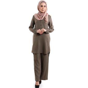 JF Fashion Wardah Suit Blouse and Pant D388 (Grey)