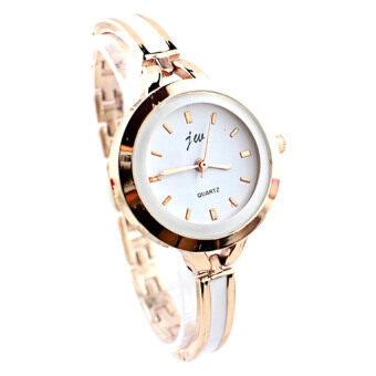 JW Classic Casual Bracelet Woman Gold Watch + Watch Box
