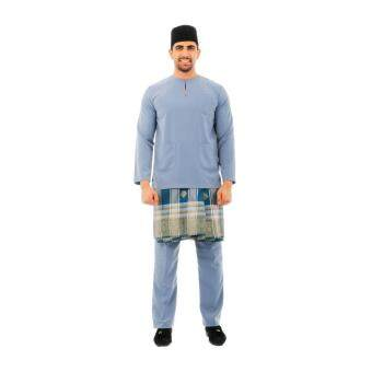 Kamdar Jumaart Mens Baju Melayu Johor-Grey