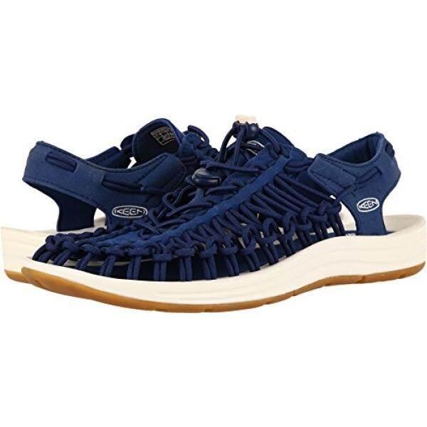 Keen Sandals Mens Keen Uneek Flat Estate Blue/White 3791739