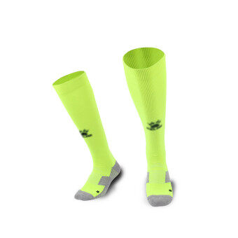 Kelme K15Z908 Men Wearable Antiskid Football Match Stockings (Fluorescent Green Black)