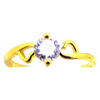 KLF Ladies Rings Pollux Gold / White