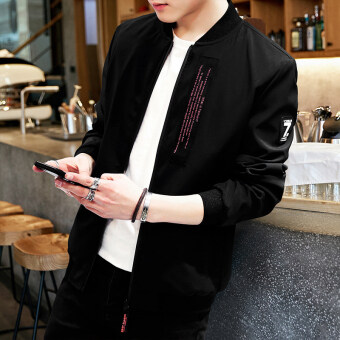 Korean-style New style Spring and Autumn youth winter jacket men's jacket (Black 108)