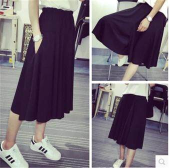 Lady Wide Leg Pants Women High Waist Loose Pants Casual Trousers