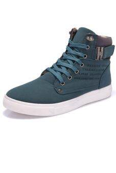 LALANG Casual Men High Cut Canvas Shoes Sneakers Sports Green