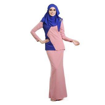 Lara Nour Baju Kurung Moden (Royal blue)