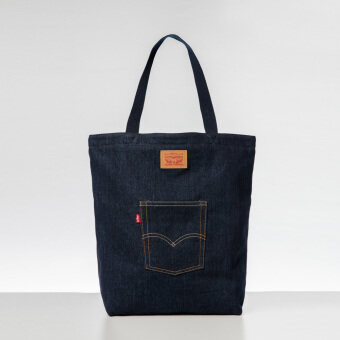 Levi's Denim Front Pocket Tote (Blue)