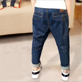LOOESN Spring and Autumn extra-large pp stretch pants boy's denim pants