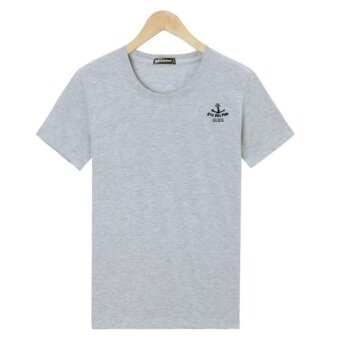 LOOESN summer printed short sleeved t-shirt (Gray)