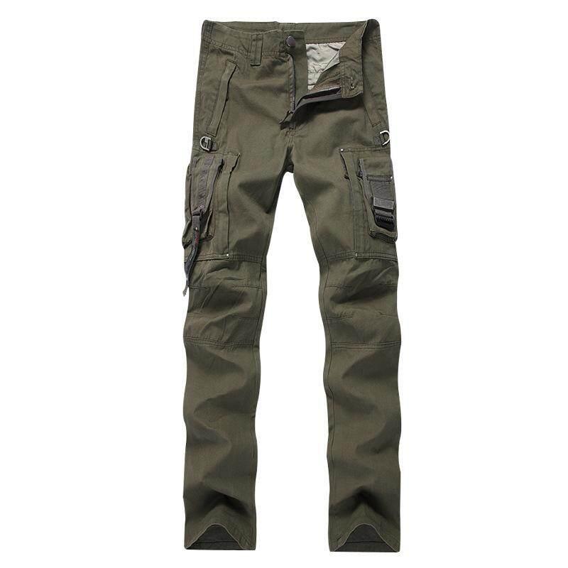 DL Pria Wanita Luar Ruangan Pelatihan Banyak Kantong Klasik Sesuai Kasual Cargo Celana Latihan Fisik Taktis Celana Warna: layar Tentara Ukuran: 28 Keberuntungan-G-Internasional